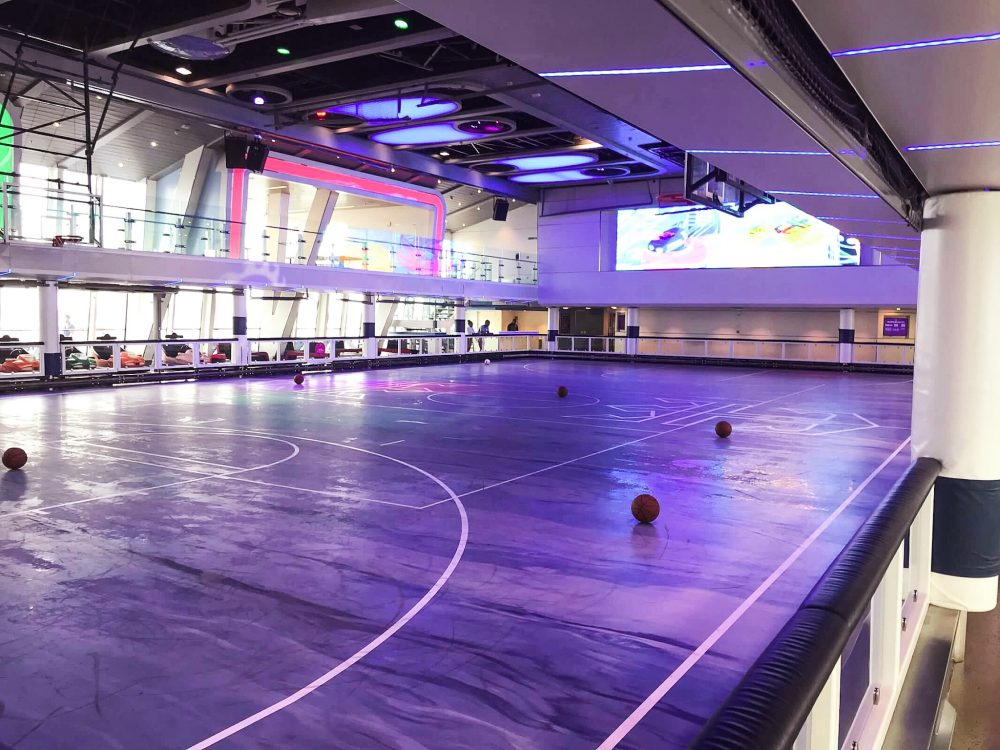 Sports arena on Anthem of the Seas