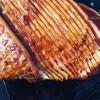 Honey Bourbon Glaze on ham
