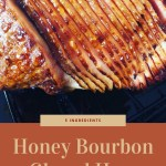 spiral sliced ham with a honey bourbon glaze
