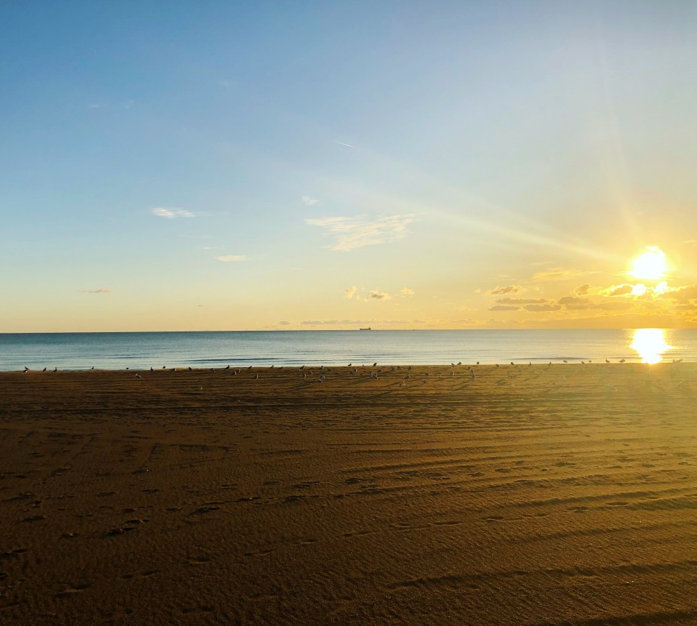 Lake Erie Beach in the morning