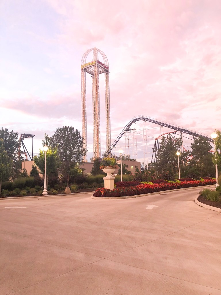 Cedar Point rides from Hotel Breakers