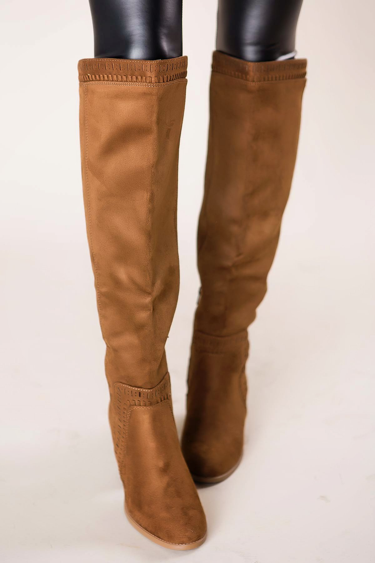 boutique brown knee high boots