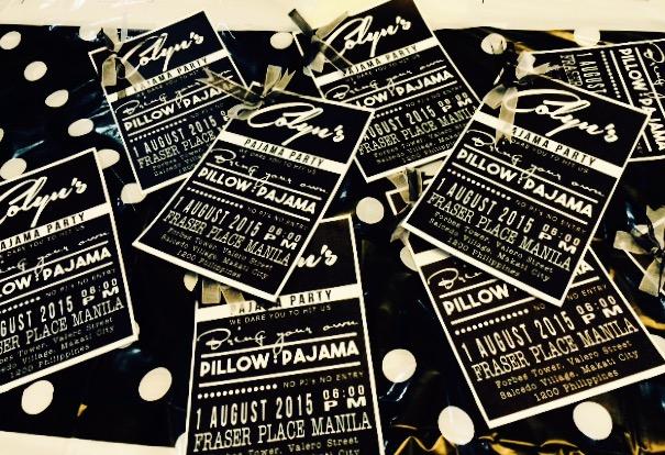 Invites designed by RM Lanzuela.