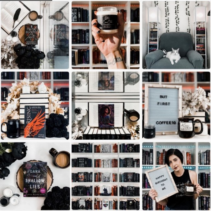 Coffee and books Instagram link