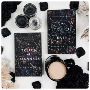 Flatlay of A Touch of Darkness and a Touch  of Ruin