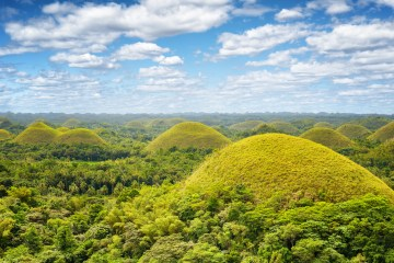 Chocolate hills on Bohol Island, Philippines.