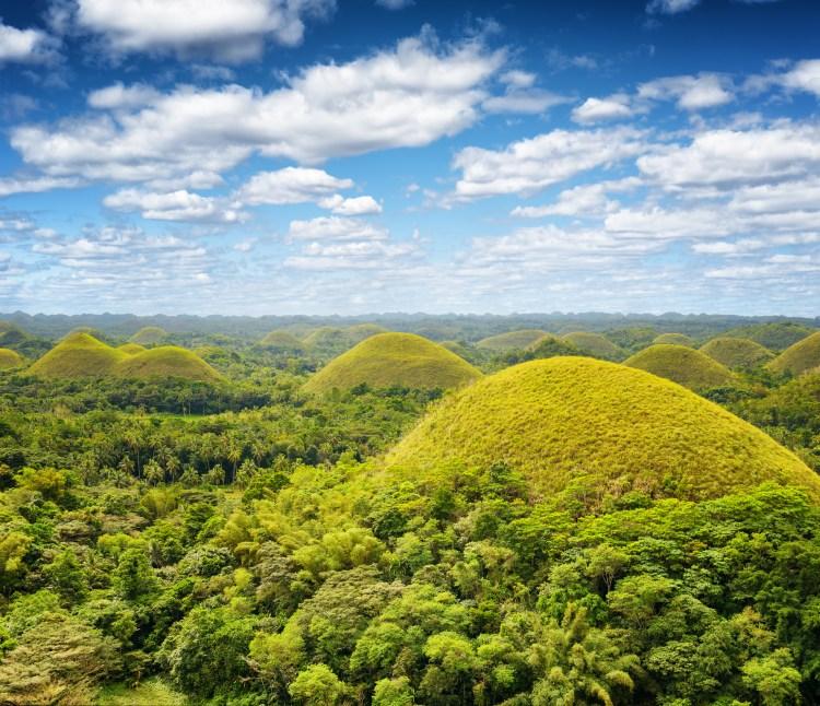 Chocolate hills on Bohol Island, Philippines.