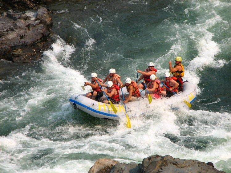 White water rafting in Australia on the Tully River