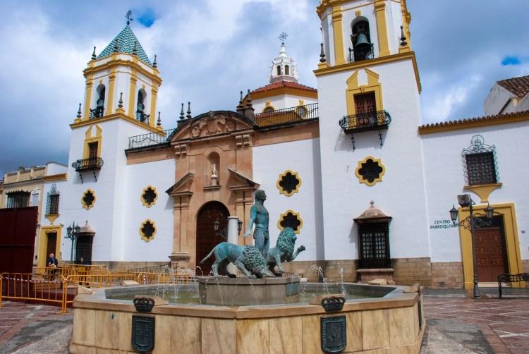 Church and Fountain, Plaza del Socorro, Ronda
