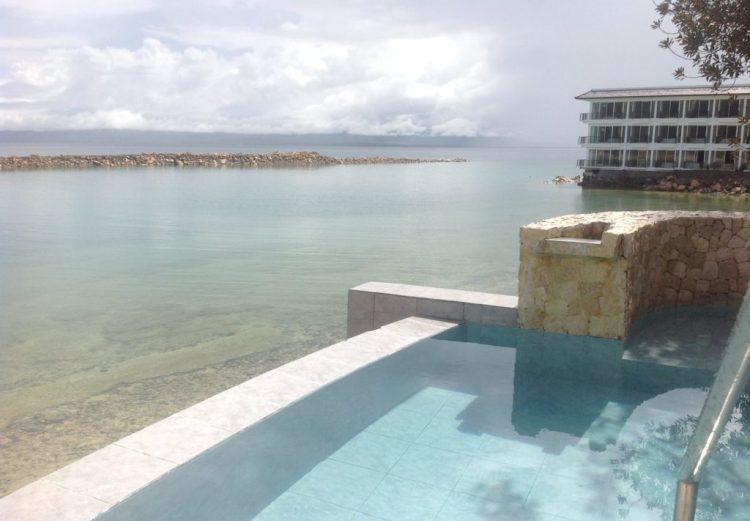 Hot tub, Misibis Bay, Cagraray Island, Bicol, Philippines