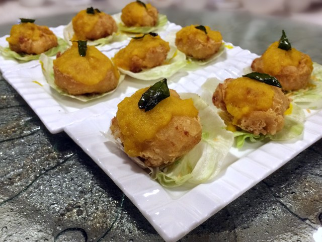 Yum Cha — Salted Egg With Stuffed Scallop