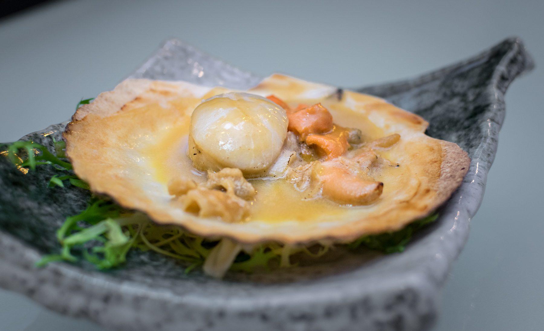 Maru Dine & Bar — Giant Scallop with Uni Miso Sauce