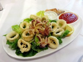 Trattoria Nonna Lina—Calamari with Tartar and Arrabiata Sauce
