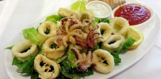 Trattoria Nonna Lina—Calamari with Tartar and Arrabiata Sauce
