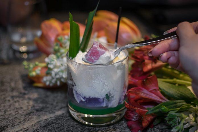 Le Binchotan: Supper—Bubur Cha Cha Cocktail