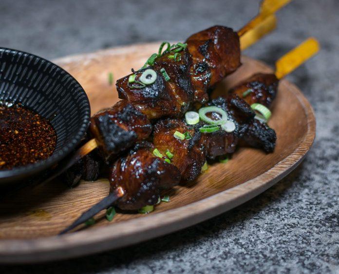 Le Binchotan: Supper—Iberico Pork Collar Satay