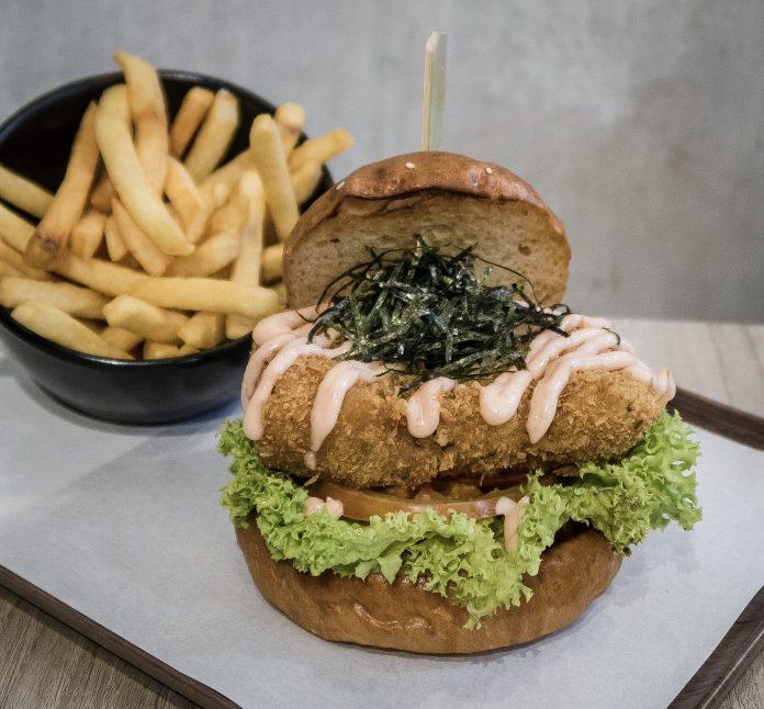 Grub-Mentaiko Mille-feuille Katsu Burger