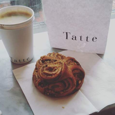 Pastry and latte at Tatte