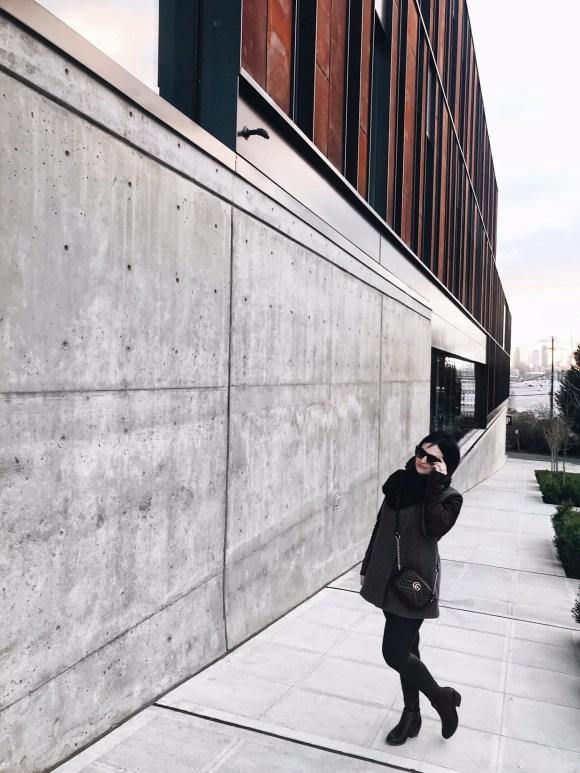 Gucci Marmont Chevron Quilted Mini Camera Bag mod shot | CoffeeAndHandbags.com