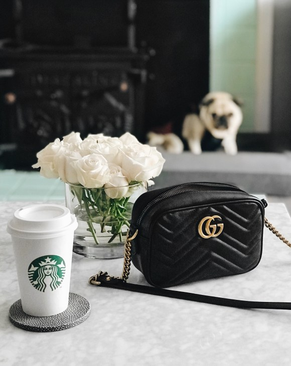 Starbucks coffee and Gucci Marmont handbag   CoffeeAndHandbags.com