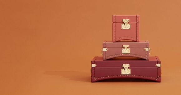 Moynat Limousine Trunks | CoffeeAndHandbags.com #moynat #luggage #malles #leather