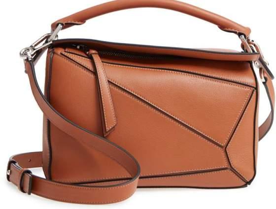 Loewe Tan Calfskin Leather Puzzle Bag