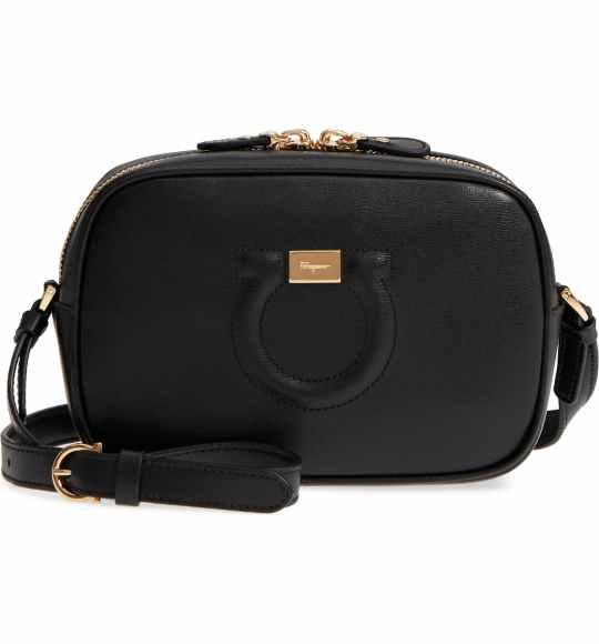 Salvatore Ferragamo Gancio Leather Camera Bag