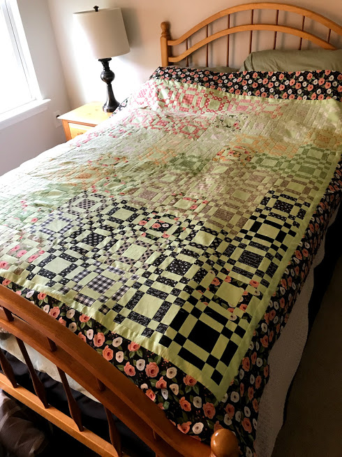 quilt top on the guest bed