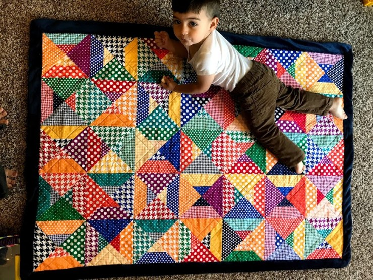 Jimmy on quilt