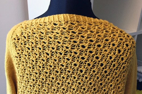 Toft Abergeldie Lace Cardigan - From The Back