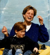 Princess Diana and Prince Harry at Thorpe Park DBase