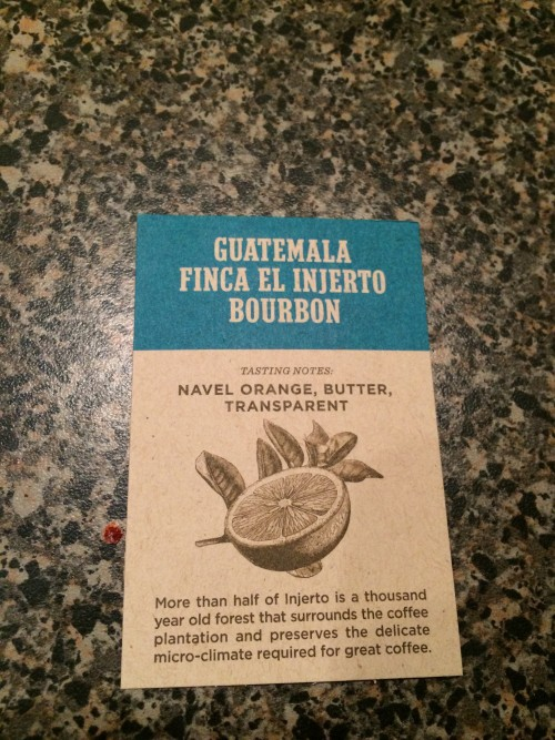 Mini review: Stumptown Guatemala Finca El Injerto Bourbon (Portland, Oregon)