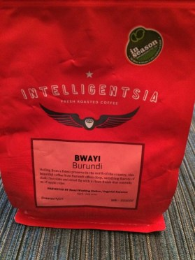 Review: Intelligentsia Burundi Bwayi (Chicago, Illinois)