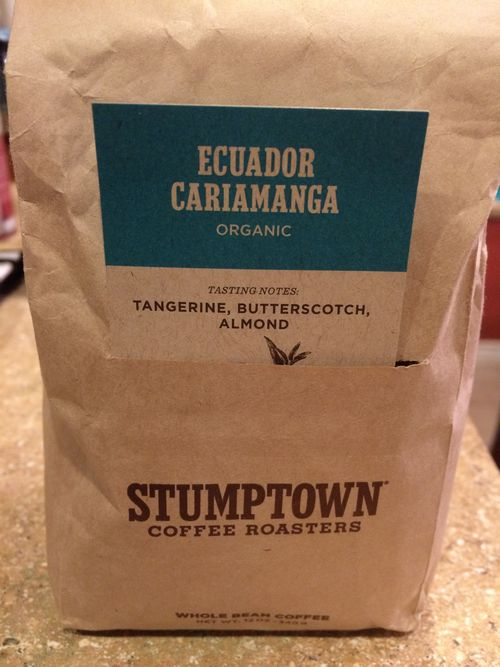 Review: Stumptown Ecuador Cariamanga Organic (Portland, Oregon)