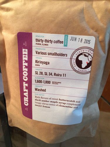 Review: thirty-thirty Coffee Co. Kenya Kirinyaga (Peoria, Illinois)