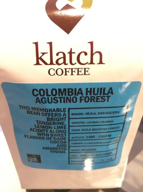 Review: Klatch Colombia Huila Agustino Forest (Upland, California)