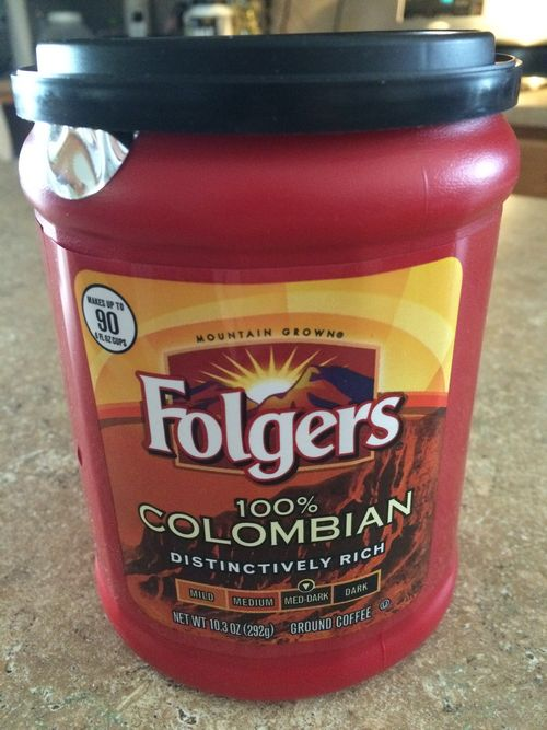 Review: Folgers 100% Colombian pre-ground coffee (Orrville, Ohio)