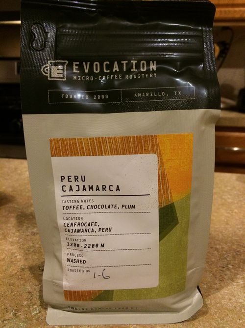 Review: Evocation Micro-Coffee Roasters Peru Cajamarca (Amarillo, Texas)
