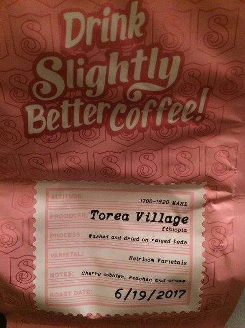 Review: Slightly Coffee Roasters Ethiopia Torea Village (Eugene, Oregon)