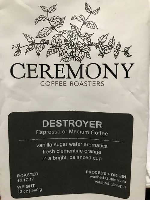Review: Ceremony Coffee Roasters Destroyer Blend (Annapolis, Maryland)