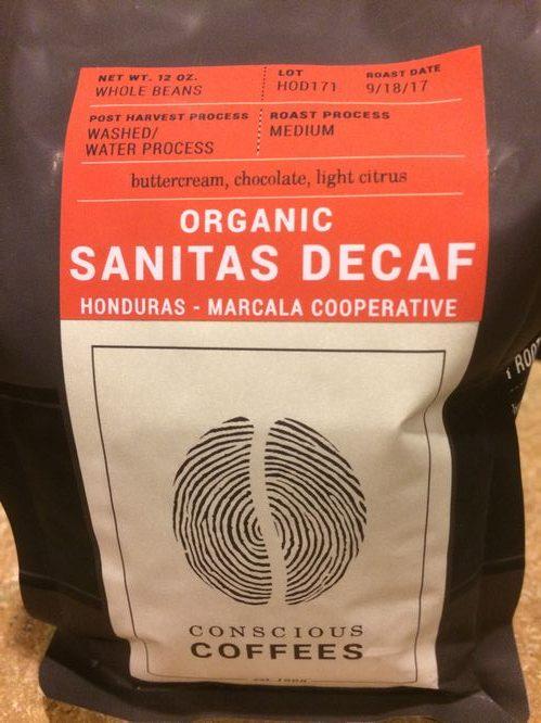Review: Conscious Coffees Organic Sanitas Decaf (Boulder, Colorado)