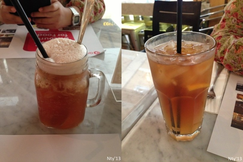 Ice Lychee Tea and Ice Lemon Te