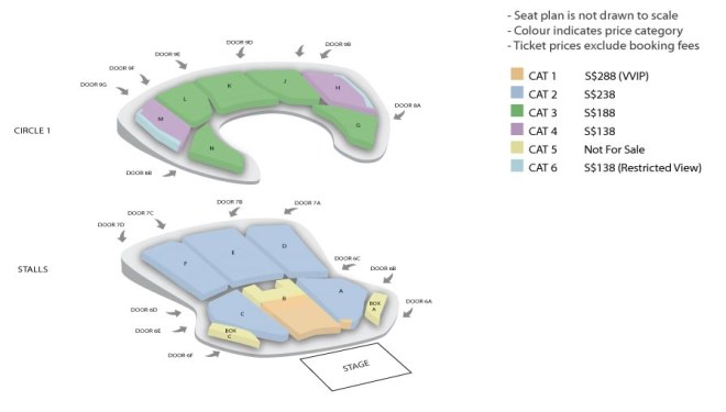 Seating Plan One Fine Day in SG