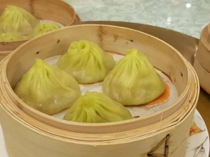 Steamed Xiao Long Bao with Scallop ($5.80)
