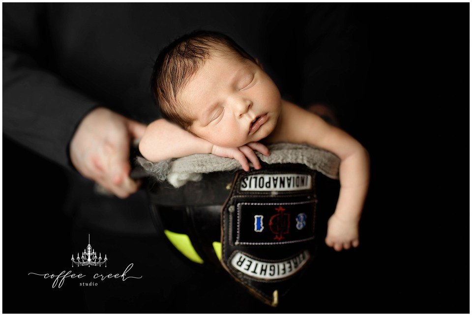 Indianapolis Fire Department Newborn Photographer