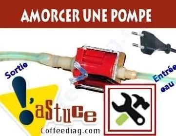 Amorcer une pompe à eau d'une machine à café