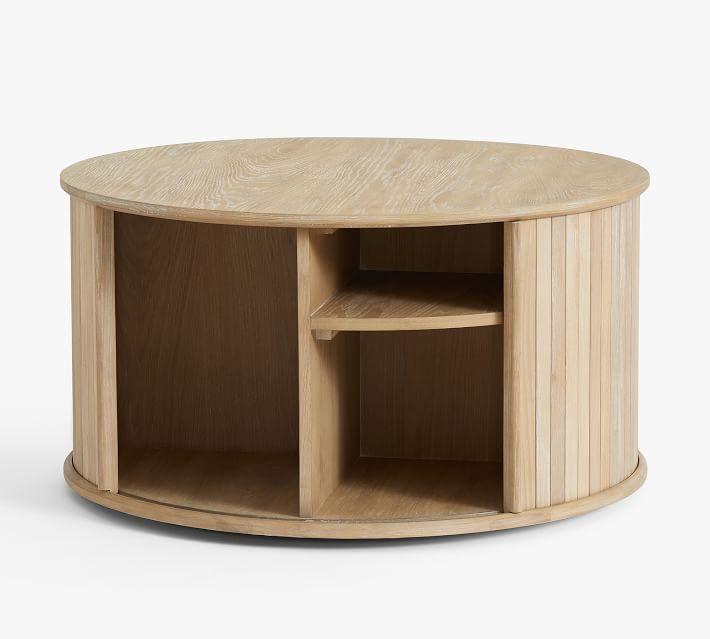 round coffee table storage