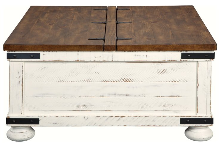square coffee table storage