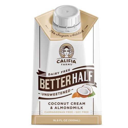 Unsweetened Better Half Coffee Creamer by Califia Farm is best creamer for weight loss