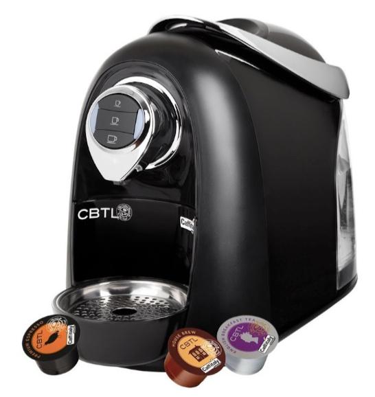 CBTL Kaldi Single-Cup Brewer Espresso, Coffee and Tea Bundle